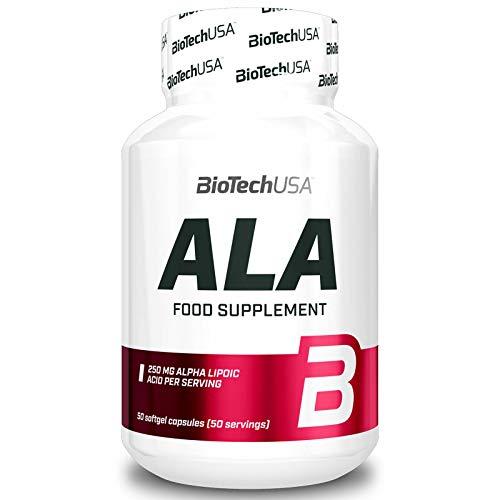 ALA 50 capsule | ALA Acido alfa lipoico | Potente antiossidante | Aiuta a mantenere i livelli di zucchero nel sangue