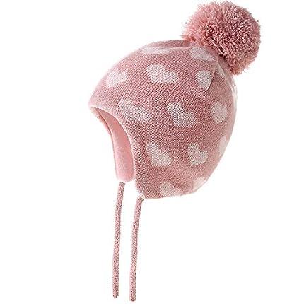 AHAHA Gorro Niña Invierno Sombreros de Punto con Pompones