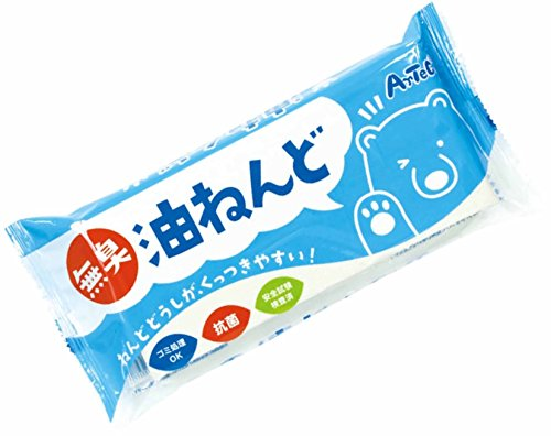 Artec 23277 Odorless, Antibacterial, Oil Clay, White, Ultra Lightweight, Made in Japan, Safe Testing, Garbage Disposal, Soft, Kindergarten, Infant, Elementary School, Junior School, Junior School, Junior School, Putty, Home Learning