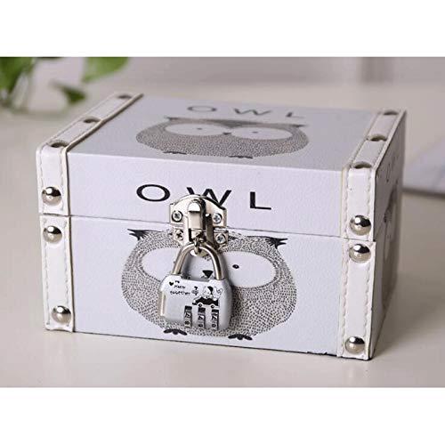 WNN - Caja de joyería de piel URG, pequeña caja de almacenamiento, decoración del hogar, adecuada para pendientes, collares, anillos y pulseras URG (color: A)