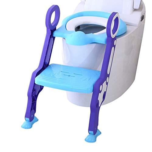 Reductor WC para Bebé Los niños silla del asiento de formación del tocador manijas del asiento del niño del tocador de escalera Silla de bebé Mujer Kid Boy WC asiento de inodoro cubierta de asiento de