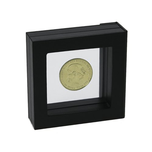 SAFE Black Floating Frame. Display Coins, Medals and Collectables in 3D. Protects and Showcases Collections