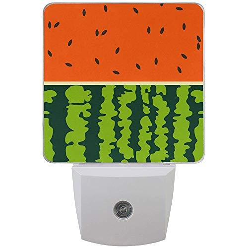 Katrine Store Wassermelone Sommer LED Nachtlicht Auto Sensor Dämmerung bis Morgendämmerung Plug-in Indoor für Erwachsene