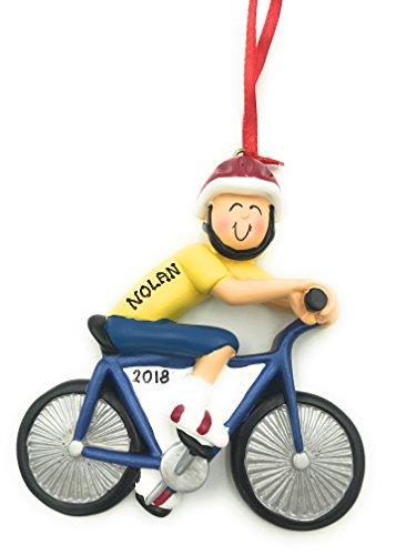 Personalized Bike Rider Male Christmas Ornament 2020