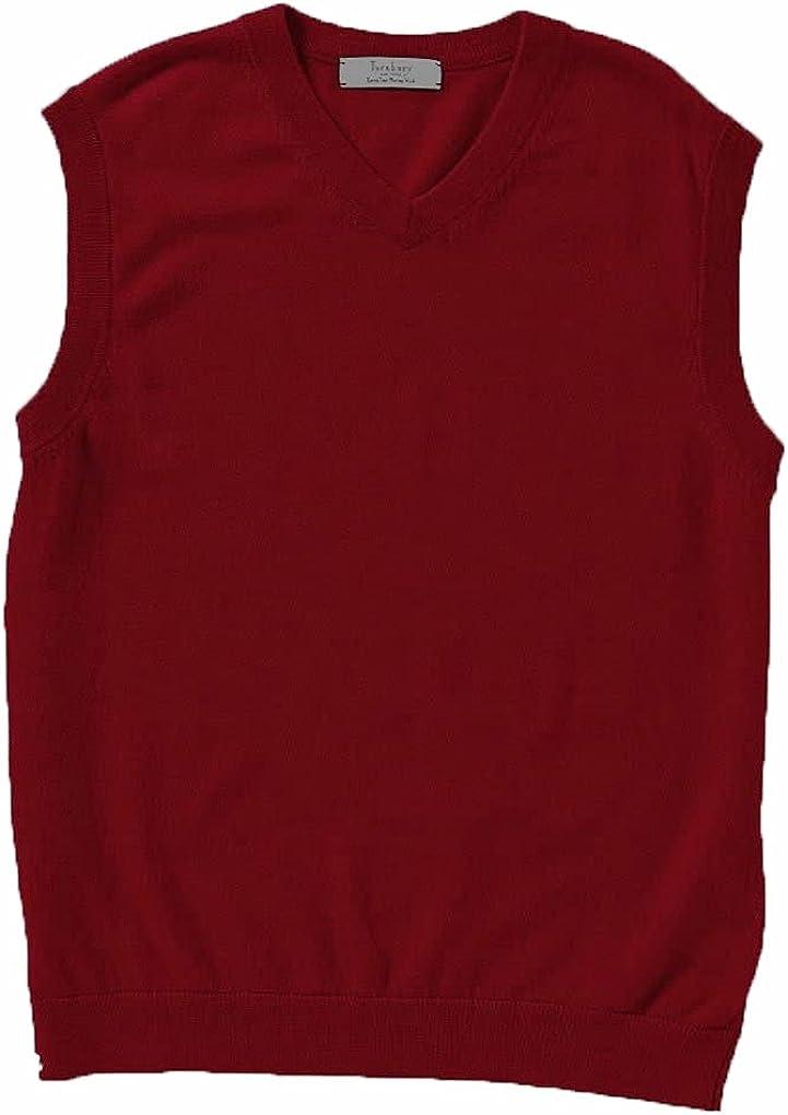 HART Schaffner Marx Man's Big & Tall Extra Fine Merino Wool Vest (Red) Size 3XT.