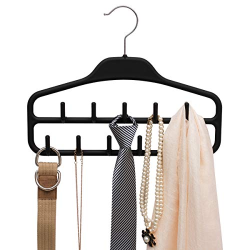 Ties Scarfs Necklaces Shopline Belt Hanger with 12 Hooks Great Organizational Tool Closet Accessories Organizer for Belts