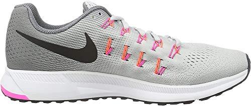NIKE Women's Air Zoom Pegasus 33 Pr Pltnm/Blk Cl Gry PNK BLST Running Shoe 8 Women US
