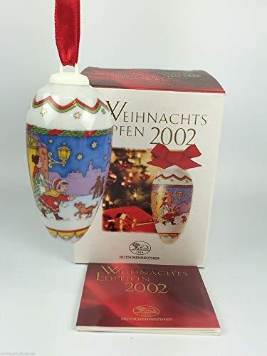 Hutschenreuther Weihnachtszapfen 2002, Zapfen, Porzellanzapfen, Weihnachten, Anhänger, Baumanhänger, Baumschmuck