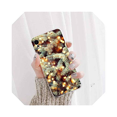 Marry Christmas Holiday Tree New Year Phone Case for iPhone 12 5 5s 5C SE 6 6s 7 8 Plus XXS XR 11 Pro max-A2-For 7 Plus Oro 8 Plus
