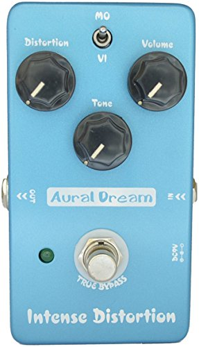 Aural Dream Intense Distortion Guitar Effect Pedal includes Brown Sound and 70's distortion,True Bypass.