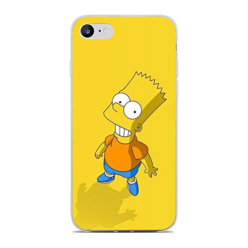 QNNN Transparent Silicone TPU Shockproof Clear Case Compatible with Apple iPhone 6/6s-Simpsons-Family Bart-Homer 3