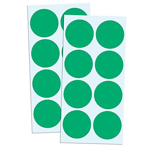 5cm Gomets Colores Pegatinas Redondo Adhesivos - Verde, Pack de 240