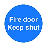 FIRE DOOR KEEP SHUT SIGNS - SELF ADHESIVE STICKER/LABEL SIZE APPROX 100MM X 100MM, SCREEN PRINTED MADE BY PROFILE SIGNS by PROFILESIGNS.CO