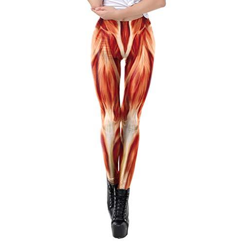 Yoga Leggings Damen, Teenager Mädchen Anatomie Bunte Menschliche Muskeln Organe 3D Druck High Waist Yoga Hosen Leggins Hoher Sportleggins Jogginghose Training Fitness Sport Yogahosen (KDK2021,M)