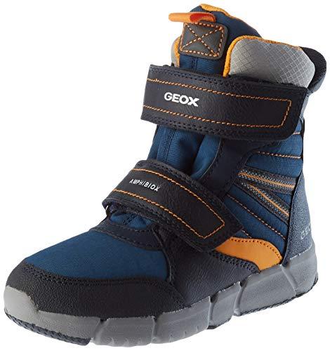 Geox J FLEXYPER Boy B ABX Snow Boot, Blau (Navy/Orange), 39 EU