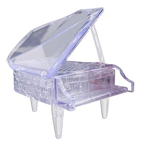 Zumint 3D Puzzle Klavier, 44 Teile 3D Crystal Puzzle Jigsaw Mädchen Puzzles, Elegantes Minimalistisches Design, weniger ist mehr, Das Perfekte Geschenk