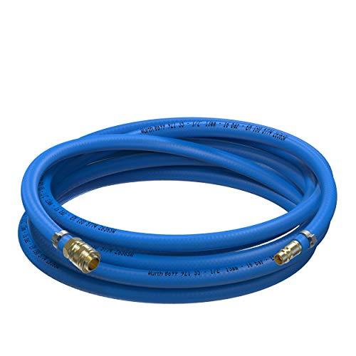 AUPROTEC Sicherheits Druckluftschlauch Set Würth PVC-Schlauch + Messing Schnellkupplung (1m Meter, Innen Ø 13mm)