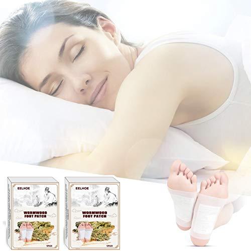 Detox Fußpflaster, Fusspflaster zur Entgiftung, Detox Pflaster Fuß zum Entfernen von Körpergiften, Stressabbau, Schmerzlinderung, Besserer Schla Fußpflege-Pads(2 * 10pcs)