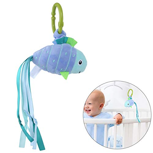 Find Bargain HelloCreate Baby Toy, Baby Fish Shape Rattle Infant Stuffed Sound Toy Stroller Hanging ...