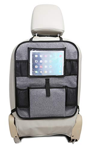 BABYMAD Car Back Seat Storage Organiser iPad/Tablet Holder Kids Kick Mat Seat Protector Multi-Pocket Children's Travel Storage