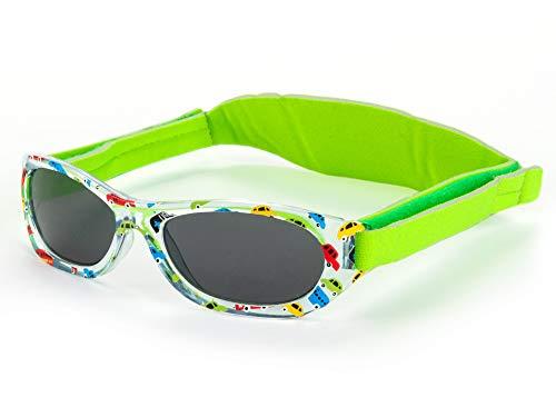 Kiddus Baby-sonnenbrille für JUNGEN UND MÄDCHEN im Alter von 0 Monaten bis 2 Jahren, 100% UV-Schutz, SUPER KOMFORTABEL mit verstellbarem WEICHEN Riemen. Das ideale babys Geschenk