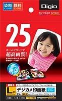 ナカバヤシ 写真用紙 光沢紙 25枚入 L判 JPSK-L-25G