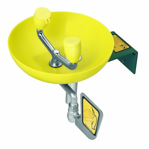 Speakman SE-495 Traditional Series Wall-Mounted Emergency Eye and Face Wash, Yellow
