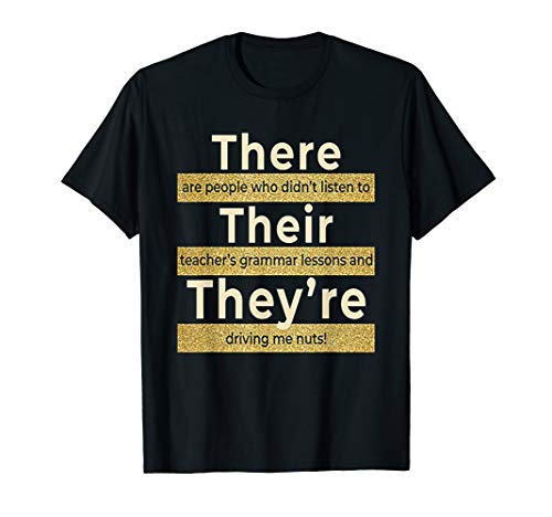 There Their They re T shirt English Grammar Funny Teacher
