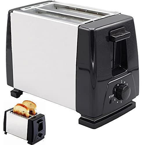 Tostador 2 rebanadas. Tostador vertical eléctrico, Acero inoxidable, 6 modos de tostado.