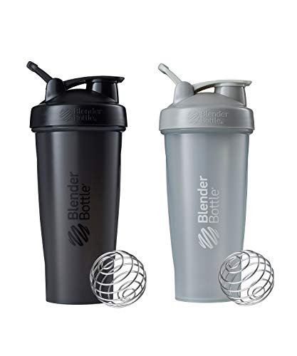 BlenderBottle Classic Shaker Bottle Perfect for Protein Shakes and Pre