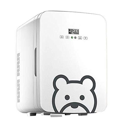 WEUROPESV 10L Coche pequeño refrigerador 12V refrigerador de refrigerador Coche Dual-Uso Dormitorio Individual Hot y frío Caja de cosméticos Refrigeración, Pantalla Digital táctil