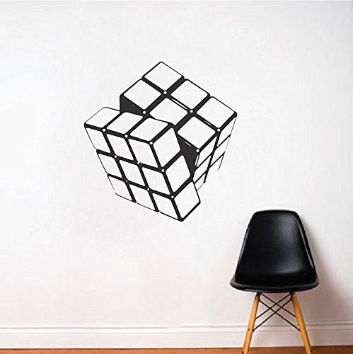 Rubiks Kubus muur Decal Rubiks Kubus muur Art Vinyl Sticker Kids kamer muur Decal Game Muursticker kunst puzzel muur Vinyl Sticker b01