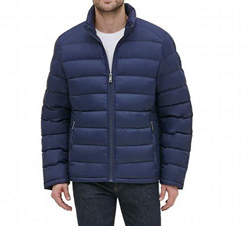 Kenneth Cole Mens Jacket Deep Large Puffer Regular-Fit Blue L