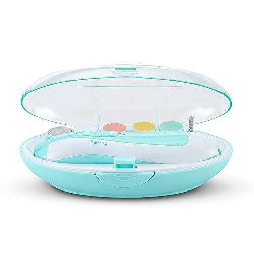 QiKun-Home Baby-elektrische nagels Baby-nagelschaartje Pasgeboren kinderen-nagelschaartje Baby-nagelschaartje Nageltoolset blauw