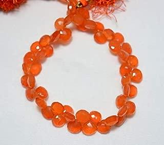 Jewel Beads Natural Beautiful jewellery Carnelian Heart Shape Beads, Carnelian Faceted Cut Heart Briolettes, Gemstone For Jewelry, 8mm - 9mm Approx, 9 Inch StrandCode:- JBB-5499