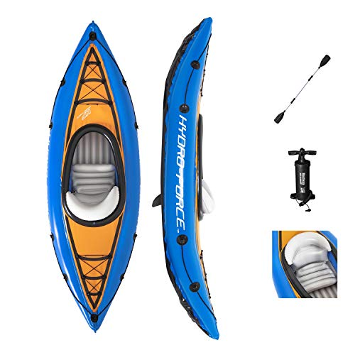 Bestway Kayak Inflable Hydro-Force Cove Champion para 1 Adulto, Juego de balsa Inflable