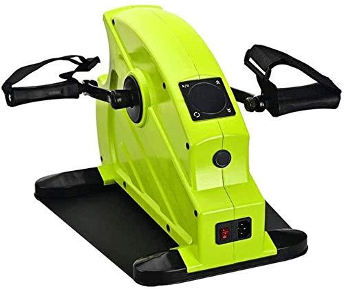 SMSOM Debajo del escritorio elíptico bicicletas, pedal ejercitador, pedales antideslizantes, Pantalla Monitor ajustable y resistencia, tranquilo y compacto del Ministerio del Interior entrenador físic