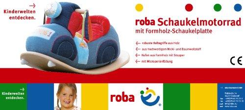roba Schaukelmotorad, Schaukelspielzeug mit weicher Stoff-Polsterung, Schaukelsitz für Kleinkinder ab 18 Monate - 4