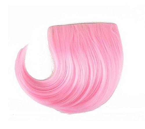 Colorful étape perruque, parti perruque, cheveux Bangs Perruques,Frais Rose