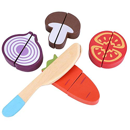 Fournyaa Juguete de Cocina para niños, Lote de Comida de simulación de Forma Encantadora, Material no tóxico Seguro y(Fruit and Vegetable Puzzle 02)