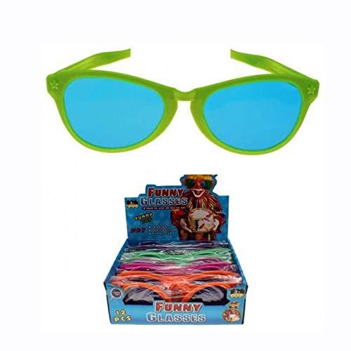 45566, 4 Stück XXL Jumbo Brille, Partybrille, Riesenbrille, Scherzbrille