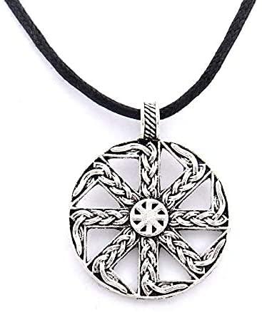 AMOZ Collares, Joyas, Utilizados para Colgante Hecho a Mano, Collar, Amuleto Eslavo, Símbolo Solar Pagano, Rueda Eslava, Amuleto Nórdico, Hombres Vikingos