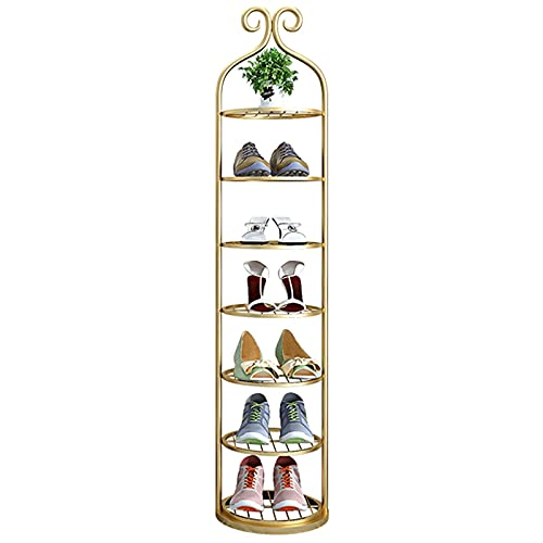 Organizador Zapatos Armario Mueble Zapatero Zapatero Dorado para Piso de Armario, Metal Vertical Organizador de Almacenamiento de Zapatos para Sala de Estar Cuarto Cocina, Alto 86/100/115/130cm