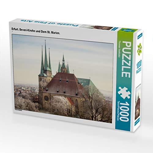 CALVENDO Puzzle Erfurt. Severi-Kirche und Dom St. Marien. 1000 Teile Lege-Größe 64 x 48 cm Foto-Puzzle Bild von Thomas Seethaler