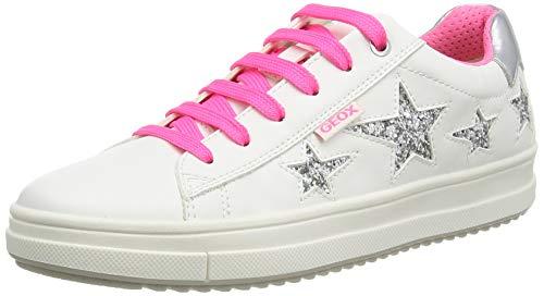 Geox Mädchen J Rebecca Girl B Sneaker, Weiß (White/Fuchsia C0563), 32 EU