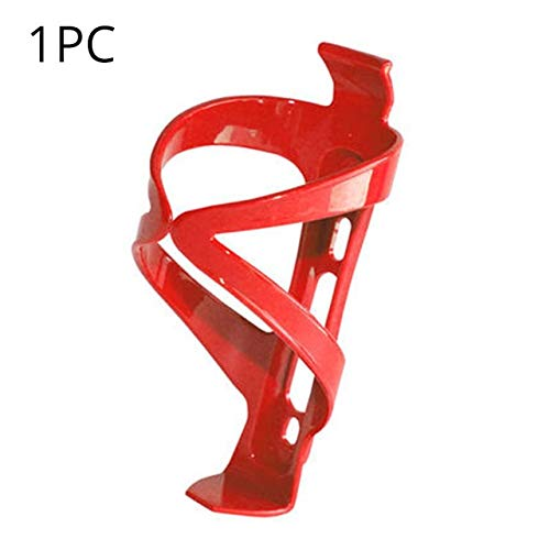 QFDYEQF128 High-Strength Bicycle Bottle Cage MTB Thick Plastic Bottle Holder Mountain Road Bike Bottleholder Cycling Accessories FIYRPKOO (Color : Red 1pc)