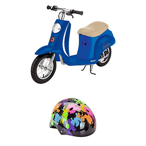 Fantastic Deal! Razor Pocket Mod Miniature Electric Retro Scooter Bundle with The Youth Multi Sport ...
