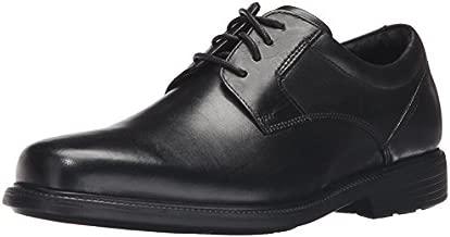 Rockport Men's Charles Road Plain Toe Oxford Black Leather 8.5 M (D)-8.5 M