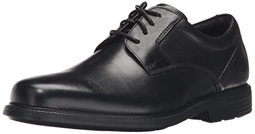 Rockport Men's Charles Road Plain Toe Oxford Black Leather 12 W (EE)-12 W