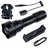 UniqueFire 38mm T20 IR luz infrarroja linterna antorcha lente de visión nocturna por infrarrojos de luz de la linterna juego de kits (interruptor remoto+montaje alcance+cargador)